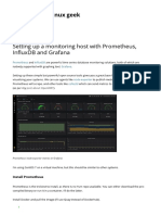 Setting Up a Monitoring Host With Prometheus, InfluxDB and Grafana _ Just Another Linux Geek