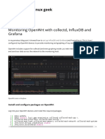 Monitoring OpenWrt With Collectd, InfluxDB and Grafana _ Just Another Linux Geek