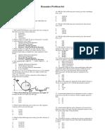 Problem Set Dynamics