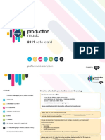 Production Music Rate Card