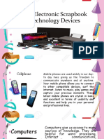 Photo Electronic Scrapbook of Technology Devices