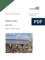 10.UBGLVA-10-1 Engineering Geology-Module Guide 2013