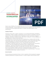 How Lean Transformation is Evaluated