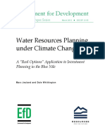Water Resources Planning Under Climate Change