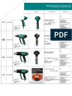 Quotation List of Heat Gun (1)