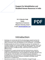 Instututinal Support for Rehabilitation & Development of Disabled HR in India