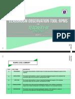 Classroom Observatioon Tool