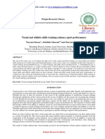 Visual and Athletic Skills Training Enhance Sport Performance