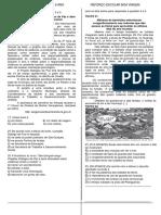 6° ANO - 1º SIMULADO BIMESTRAL DE PORTUGUÊS vários assuntos