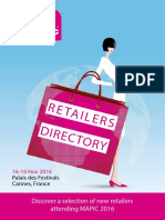 MAPIC 2016 Retailers Directory