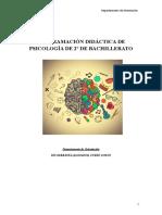 Programación Didáctica de Psicología de 2º de Bachillerato