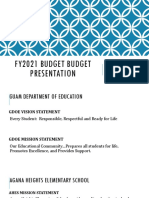 2021 budget presentation to stakeholders