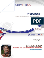 Chapter 1 Basic Concept of Hydrology