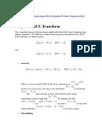 Prop of Z-transform