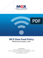 Mcx Data Feed Policy Oct 1 2018