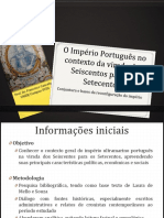 Contexto Português Princípio Do Stecentos