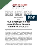 Entrevistas. a Juan Ignacio Blanco. Revista de Gandía. 1997.10.17