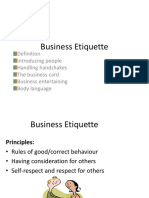 Business ettiquettea