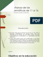 Enseñanza de Las Matemáticas 11-16 Cap.1