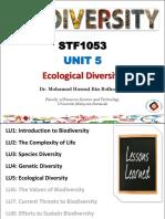 [Slides] STF1053 Biodiversity_LU 5_Ecological Diversity
