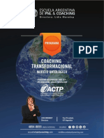 Programa Coaching Ontológico Modelo Transformacional