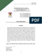 Laboratorio Dilatación Lineal