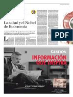 La Salud y El Nobel de Economía