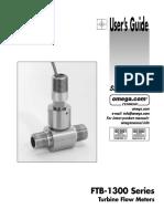 Flowmeter FTB-1300 Series Catalogo