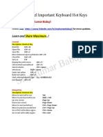Microsoft Excel Important Keyboard Hot Keys and Shortcuts 1567785673