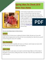 Interior Designing Ideas for Diwali 2019   Decor Your Home