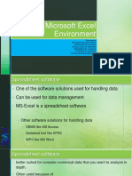 8 - MS Excel Environment & Working With Excel(1)