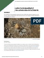 Lo que cuenta sobre la desigualdad el cementerio de los aristócratas de la Edad de Bronce _ Ciencia _ EL PAÍS