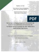 Estrategia pedagógica para el tratamiento de la dimensión ambiental en el proceso de formación del profesional de nivel medio de la especialidad Agronomía