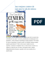 Los Cinco Mejores Centros Music.class