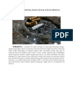 Merokok Jadi Hal Biasa Di Kalangan Remaja
