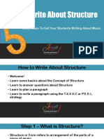 How to Write - Structure and Forms