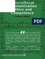 INTERCULTURAL COMMUNICATION ETHICS and COMPETENCE