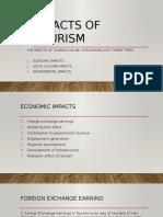 Impacts of Tourismniuhiu