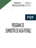 Programa de Suministro de Agua Potable
