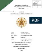 Laporan Praktikum Geografi Regional Indonesia - Acara II