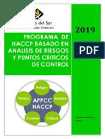 Resumen Haccp Basado en Analsis de Riesgos y Puntos Criticos de Control