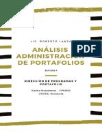 Analisis Administracion de Portafolios