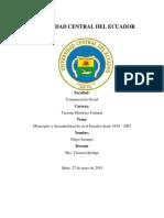 Municipios y Descentralizacion 1830 - 2007