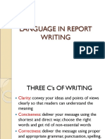 5. Language in Report Writing