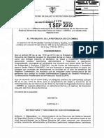 Decreto 1429 de 2016