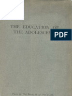 The Education of the Adolescent
