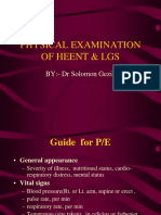 Physical Examination of Heent & Lgs