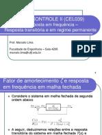 Controle-II-Método Da Resposta Em Frequência-Resposta Transitória e Em Regime Permanente
