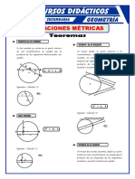 Teoremas de Las Relaciones Métricas Para Tercero de Secundaria
