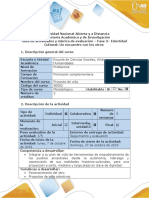 Guía de Actividades y Rúbrica de Evaluación - Fase 3 - Identidad Cultural- Un Encuentro Con Los Otros